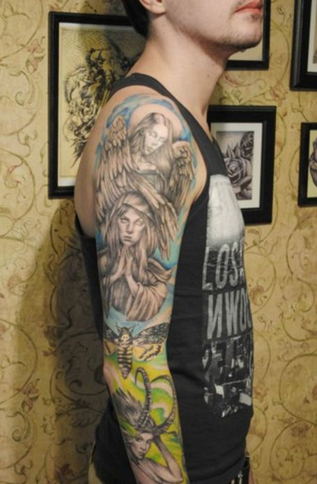 angel tattoos pictures