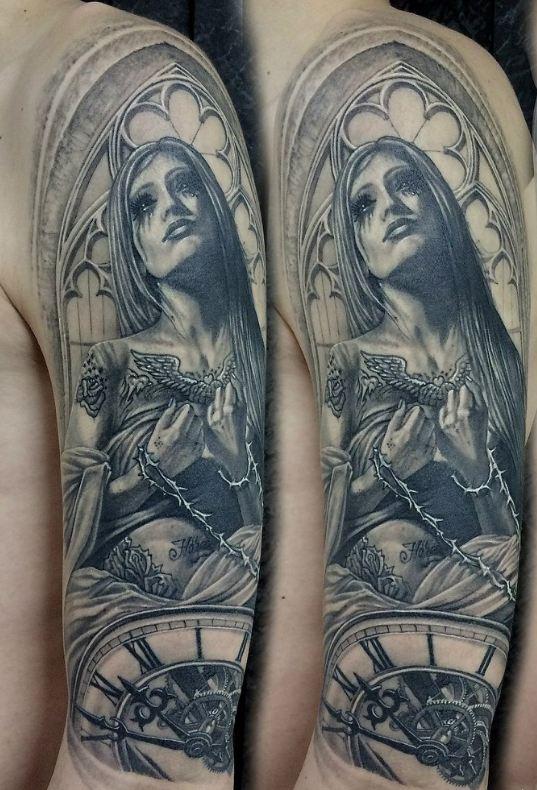arm tattoos of jesus