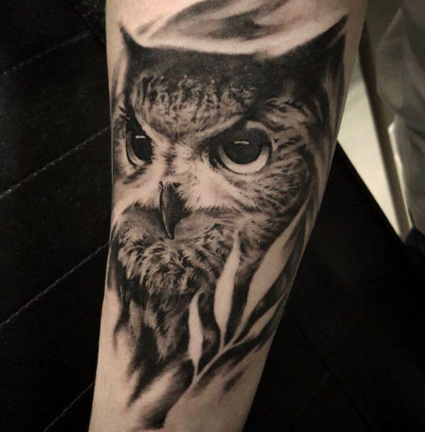 bird chest tattoos for men