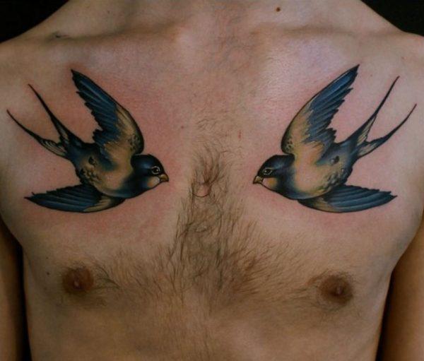 bird hip tattoos for guys
