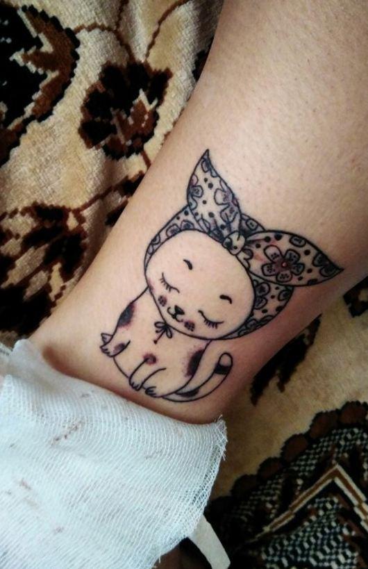 cat wrist tattoos