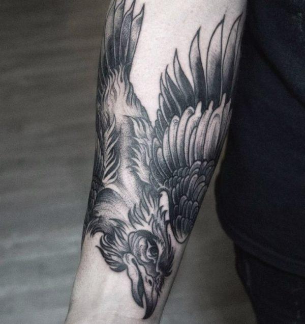 cool arm bird tattoos for guys