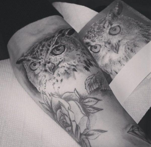 cool bird tattoos for men