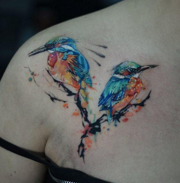 cute bird tattoos for girls