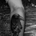 cute black bird tattoos