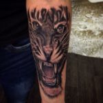 tiger tattoo forearm