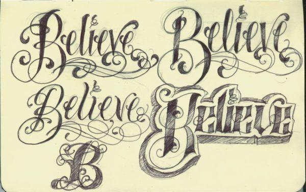 tattoo lettering design