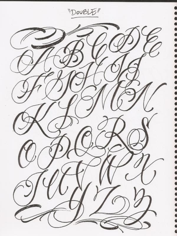 tattoo lettering flash art
