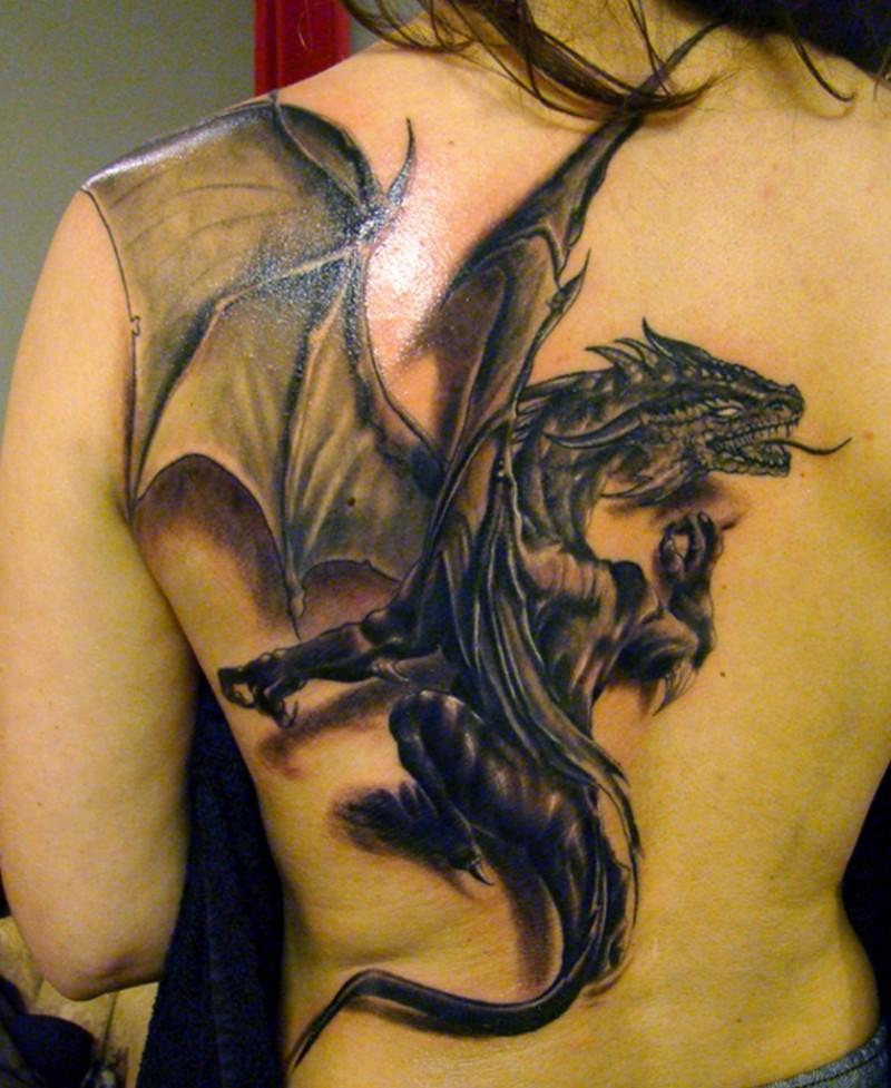 fallen angel tribal tattoo