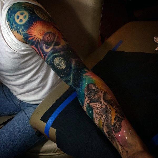 full arm tattoo