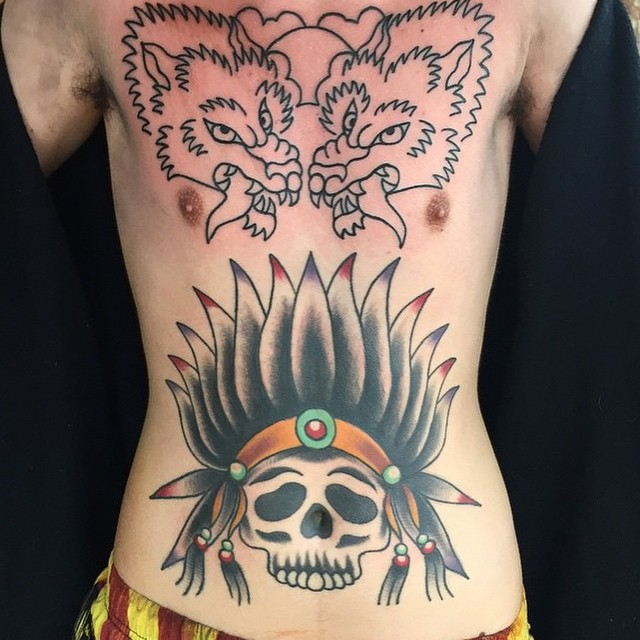 lower belly tattoo